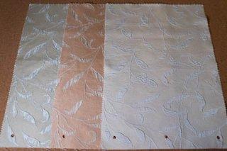 【生地】エンボスプリント 葉模様 ナチュラルテイストの布 タイ製 42×30cm 全3色ランチョンマット、ティーマットに
