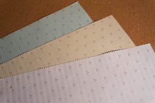 【生地】ストライプに三点模様 落ち着いた光沢の上品な布地 日本製 42×30cm 全3色 ランチョンマット、ティーマットに