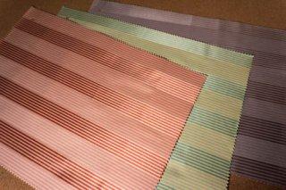 【生地】ストライプ柄 光沢のあるモダンな布地 日本製 42×30cm 全3色 ランチョンマット、ティーマットに