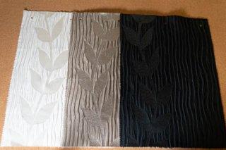 【生地】3枚セット*エンボス 葉柄 ラメの入った布地 42×30cm 全3色 ランチョンマット、ティーマットに