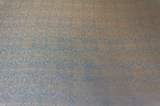 【生地】水色に金刺繍の豪華なジャガード生地  119cm×413cm 国産メーカー高級生地