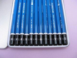 ステッドラー ルモグラフ鉛筆 100G12(12本セット/6B-4H)