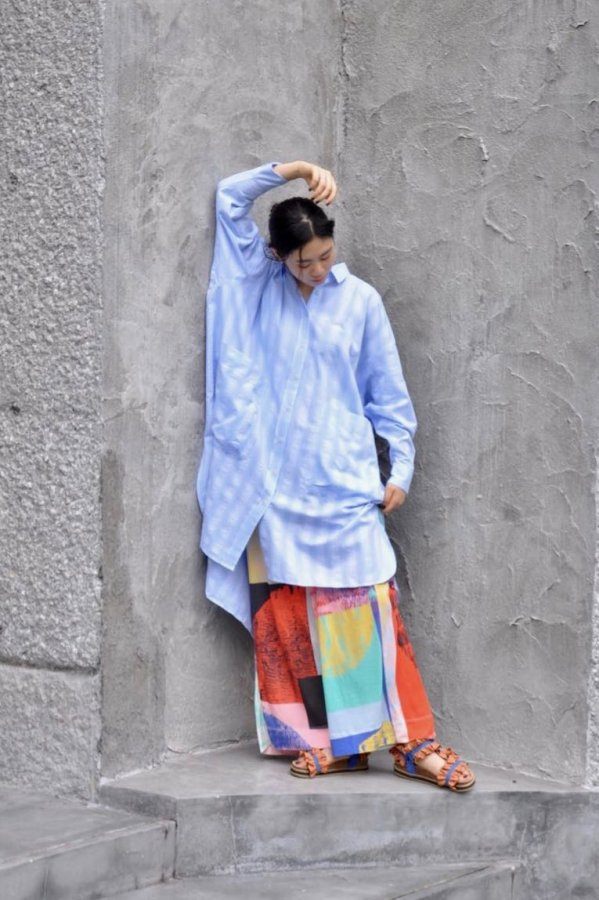 HENRIK VIBSKOV / FRIENDSHIP SHIRTDRESS / LIGHT BLUE