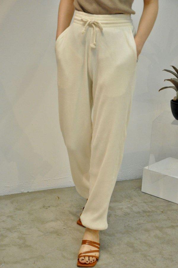 BASERANGE / SWEAT PANTS RIB / OFF WHITE