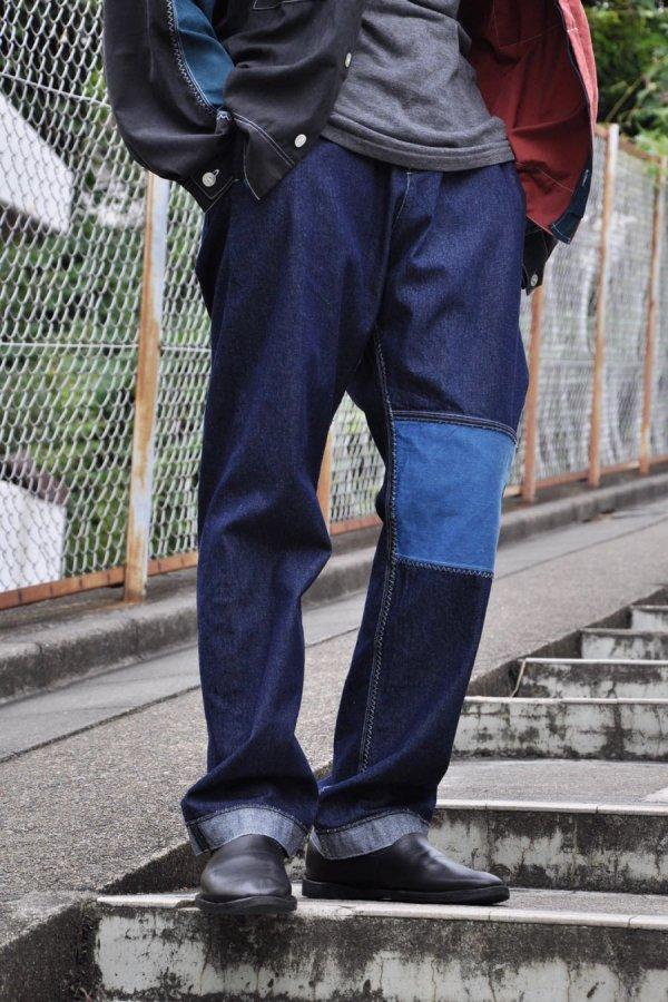 SCHEPERS BOSMAN / BLUE INDIGO PANTS / WASHED