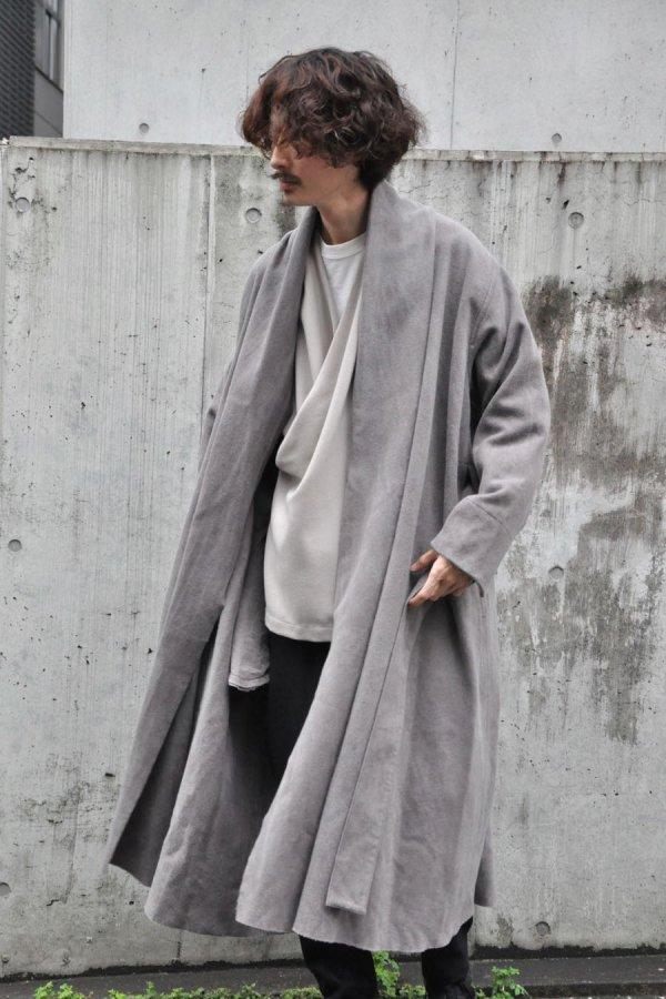 COSMIC WONDER / Beautiful Mud Dyed Wool Haori robe / Ash