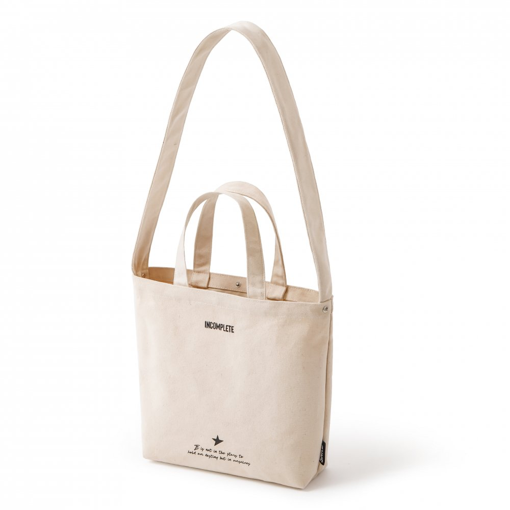 CANVAS SHOULDER BAG / IVORY