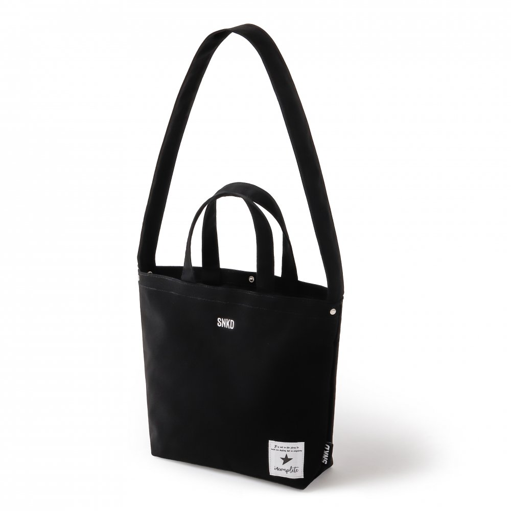 CANVAS SHOULDER BAG / BK