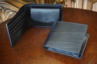 """二つ折り財布 """"英国王室御用達 ブライドルレザー """""""