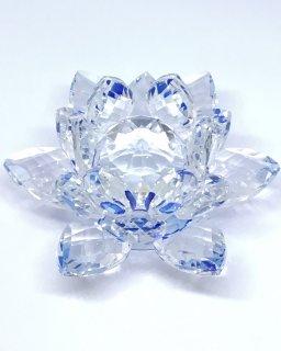 クリスタルガラス蓮華台ブルー