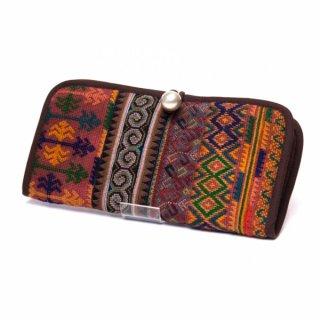 ThongPua モン族刺繍古布の長財布0114