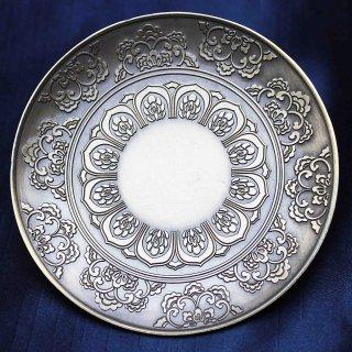 お香受け皿 真鍮製 花曼荼羅 約10cm