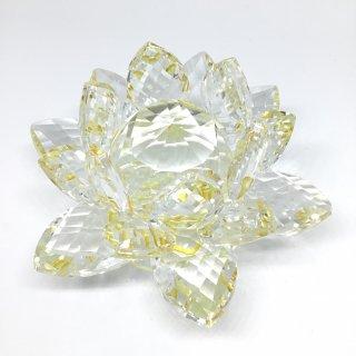 クリスタルガラス蓮華台イエロー
