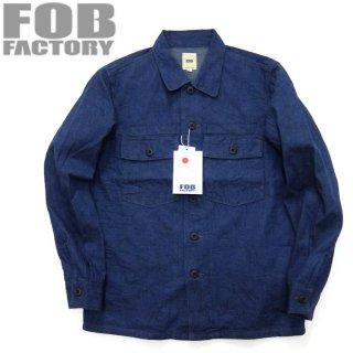 FOBファクトリー [F2371] デニムファティーグジャケット ミリタリージャケット DEINIM FATIGUE JACKET