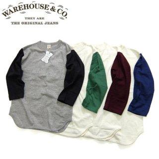 [メール便可]ウエアハウス WAREHOUSE[4800PLAIN]7分袖 ベースボールTシャツプレーン