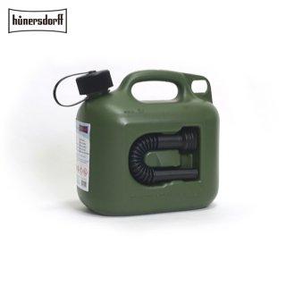 Hunersdorff ヒューナースドルフ [容量5L]ジェリカン Jerrycan 燃料タンク フューエルカンプロ  PROFI 給水タンク 携行缶