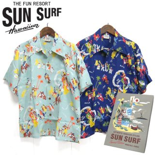 """サンサーフ SunSurf [SS38102]SPECIAL EDITION 2019年モデル 半袖アロハシャツ""""Lei Queen""""HAWAIIAN SURF"""