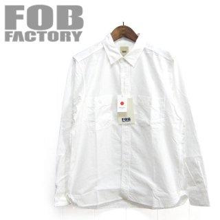 FOBファクトリー F3379 長袖 オックス ワークシャツ OX WORK SHIRT