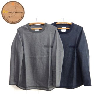 Re made in tokyo japan[2720S-CT]リネン キャンバス ポケット プルオーバー Linen Canvas Pocket Pull Over