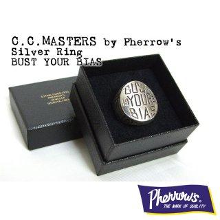 C.C.MASTERS(シーシーマスターズ)by Pherrow's(フェローズ) シルバーリング「BUST YOUR BIAS」