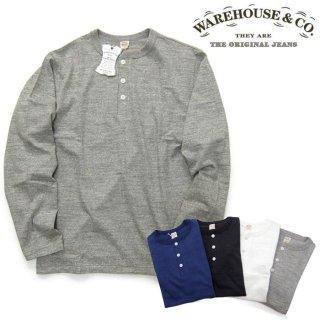 [メール便可]ウエアハウス WAREHOUSE [5907] 長袖 ヘンリーネック Tシャツ ロンT