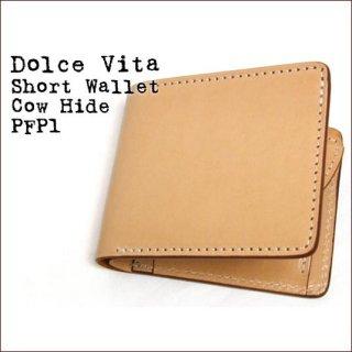 Dolce Vita 二つ折り 日本製 財布 本革 ショートウォレット カウハイド ベージュ(02)