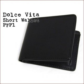 Dolce Vita 二つ折り 日本製 財布 本革 ショートウォレット カウハイド ブラック(14)