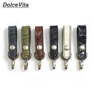 [メール便可]ドルチェビータ Dolce Vita/日本製/ループキーホルダー クロコダイル Loop key holder Crocodile[HLD1-SIAM]