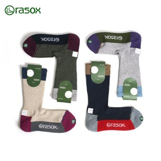 [メール便可]靴下 ラソックス rasox スポーツ クルー ソックス 男性用 女性用