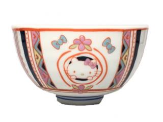 九谷焼お茶碗 ハローキティ ペルシャ文