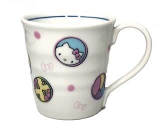 九谷焼マグカップ ハローキティ 丸紋