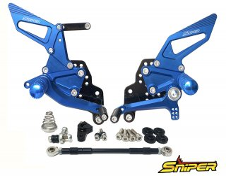 GSX-R125 GSX-R150 GSX-S125 GSX-S150 バックステップ青 ABS対応4ポジション+ レーシング用6ポジション