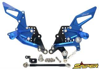 CBR250RR MC51 バックステップ青 ABS対応3ポジション+ レーシング用6ポジション