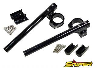 CBR250RR MC51 アルミ製 セパレートハンドル 黒 スペーサー15mm付属
