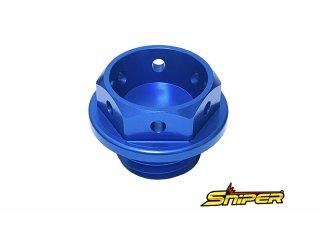 ヤマハ アルミ製 オイルフィラーキャップ 青 M20 x P2.5 汎用