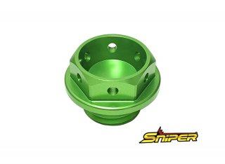 カワサキ アルミ製 オイルフィラーキャップ 緑 M20 x P2.5 汎用