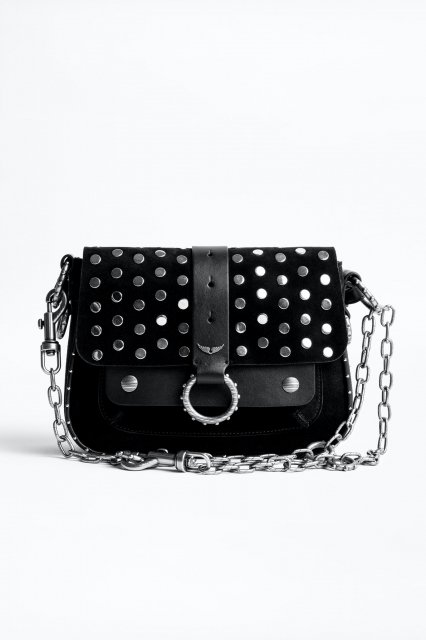 KATE SUEDE + SMOOTH CALFSKIN WITH STUDS バッグ