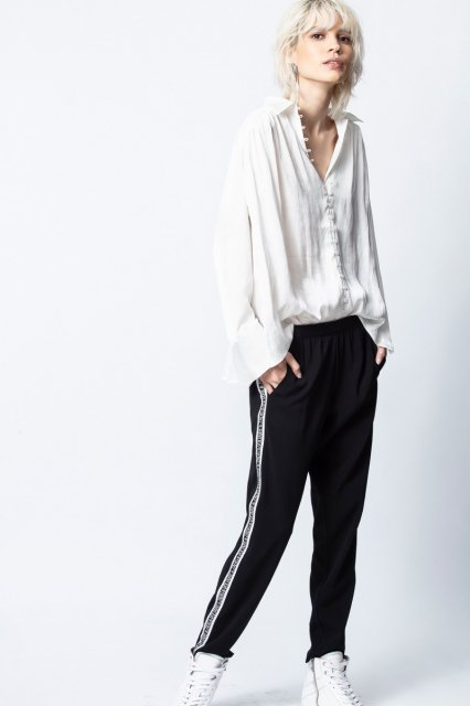 TRENT SATIN LONG SLEEVES シャツ