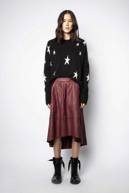 JOSLIN LEATHER CRINKLE スカート