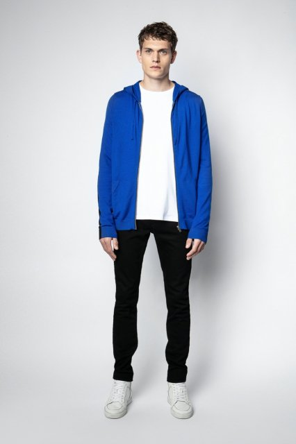 CLASH M PATCH HOODIE ZIP WITH PATCH ニットパーカー