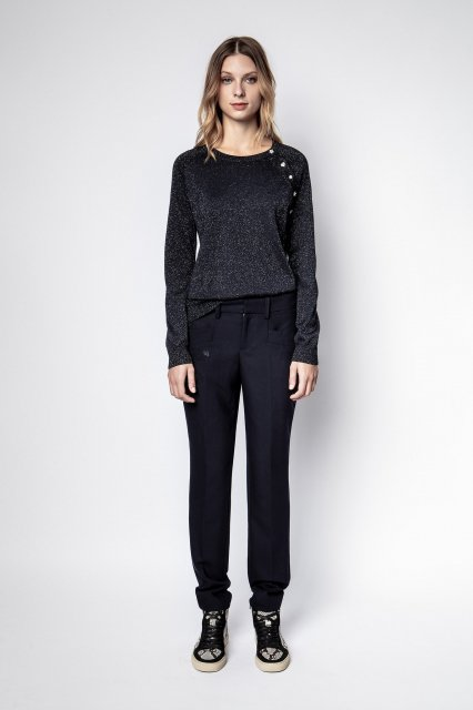 REGLIS ML MERINO WOOL + LUREX セーター