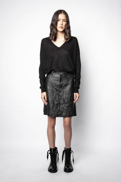 JUICER LEATHER CRINKLE スカート