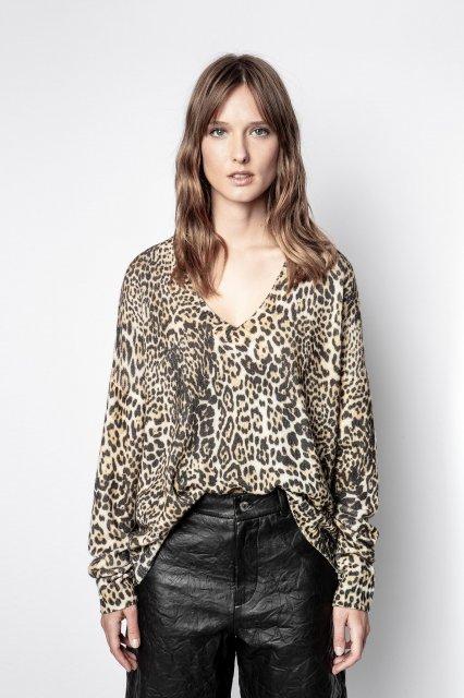 ROSY C LEO PRINT AO セーター