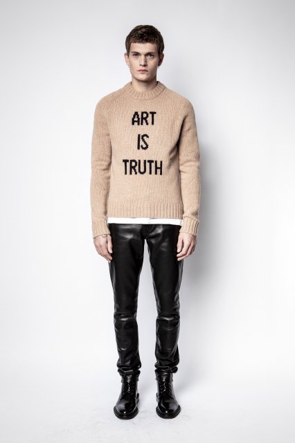 PHIL MW ART IS TRUTH INTARSIA セーター