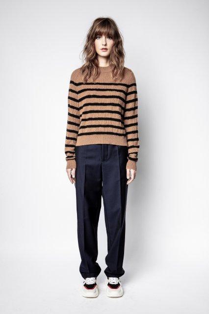 LILI C STRIPES DESTROY セーター