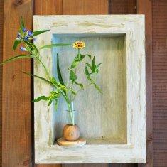 アンティーク風壁掛け花器