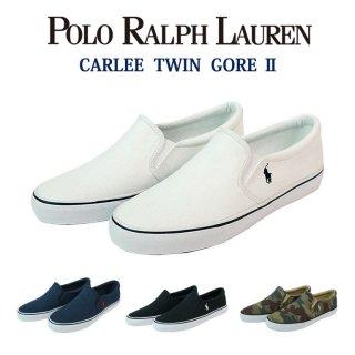 履きやすいスリッポンスニーカー♪POLO Ralph Lauren ポロラルフローレン CARLEE TWIN GORE