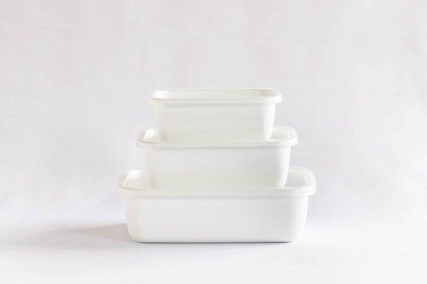 White series レクタングル深型(シール蓋付き)