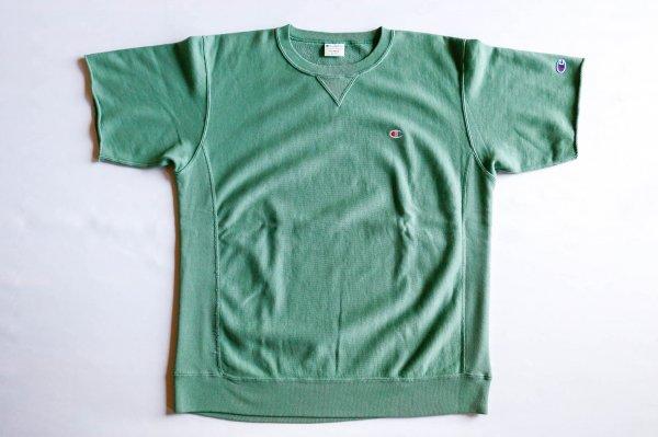 メンズ・リバースウィーブ(10oz)ハーフスリーブクルーネックスウェットシャツ
