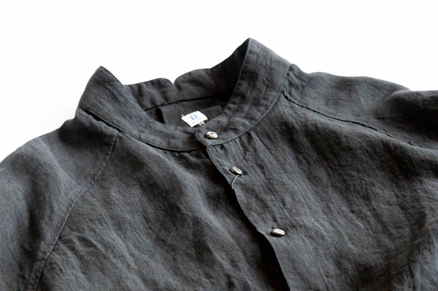 ゴデシャツ Linen/Black-1